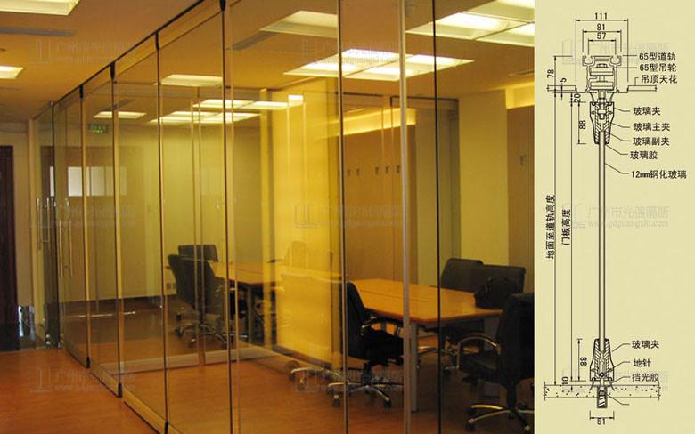 无边框玻璃隔断